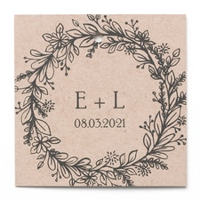 Rustic Wreath - Favor Tag - Personalized