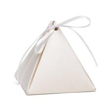 Pyramid Favor Box - Ecru Shimmer - Blank