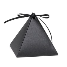 Pyramid Favor Box - Black Shimmer - Blank