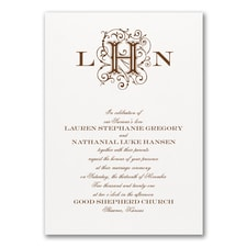 Lavish Love - Invitation - White