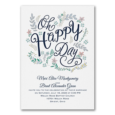 Whimsical Floral - Invitation