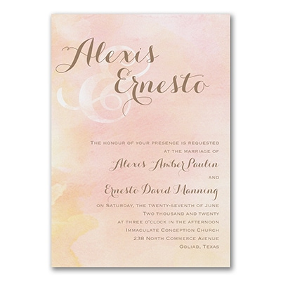 Beautiful Watercolor - Invitation