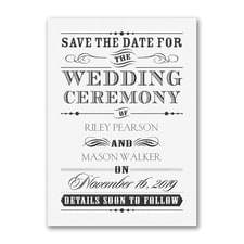 Wedding Day Declaration - Save the Date