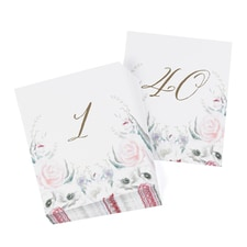 Ethereal Floral Table Number Cards 1- 40