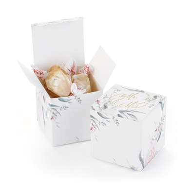 Ethereal Floral Favor Box - Blank