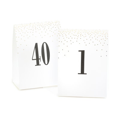 Gold Dots - Table Number Tents