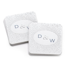 Silver Dot Coasters - Personalized