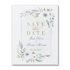 Romantic Floral - Photo Save The Date Postcard