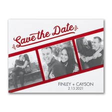 Classic Date - Photo Save The Date Postcard
