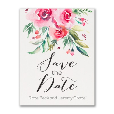 Vibrant Floral - Save The Date Postcard