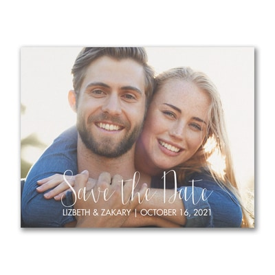 Our Wedding Date - Photo Save The Date Postcard