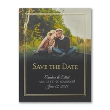 Traditional Date - Photo Save The Date Postcard
