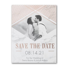 Shining Marble - Photo Save The Date Postcard