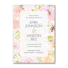 Colorful Blooms - Invitation