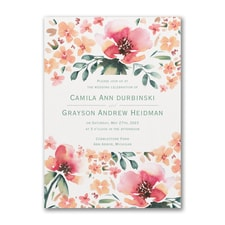 Vibrant Flowers Invitation