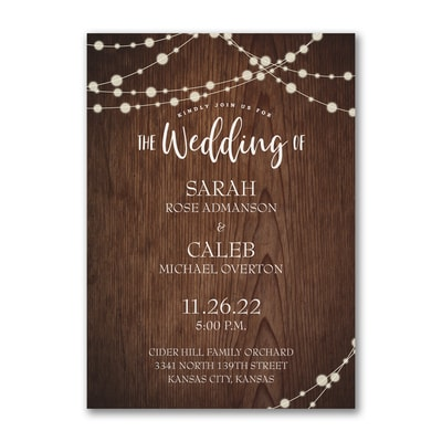 Rustic Evening Invitation