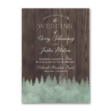 Rustic Forest Invitation
