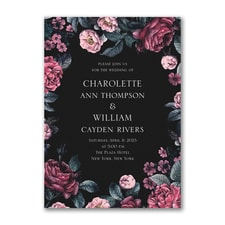 Winter Floral Invitation