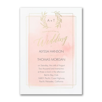Natural Watercolor Invitation