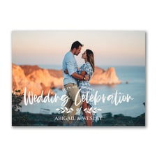 Photo Wedding Celebration Invitation