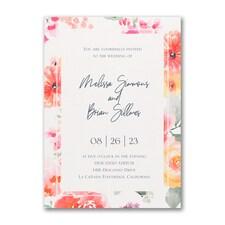 Vivid Floral Invitation
