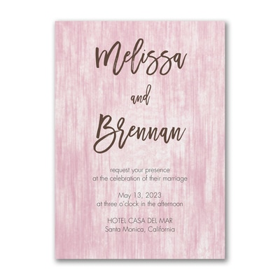 Color Washed Wood Invitation
