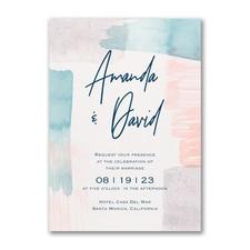 Brushed Pastels Invitation