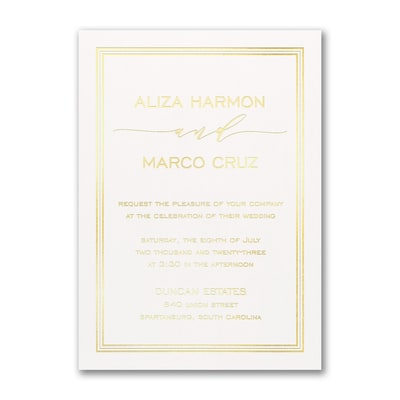 Triple Lined Border Invitation