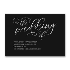 Fanciful Wedding Invitation
