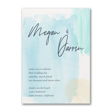 Aquarelle Blues Invitation