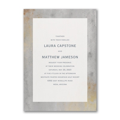 Marbled Concrete Invitation