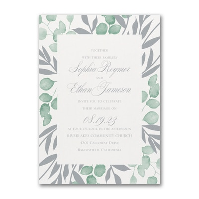 Garden Foliage Invitation