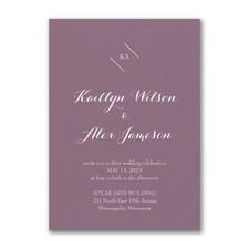 Whimsical Initials Invitation