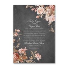 Wooden Blossoms Invitation