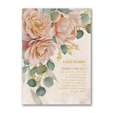 Refreshing Floral Invitation