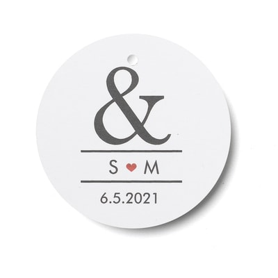 Ampersand & Heart - Favor Tags