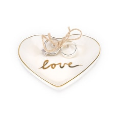 Love Heart Ring Bowl - Gold