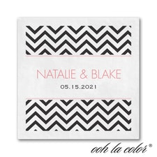 Best Chevron Ever - Ooh La Color White Beverage Napkin