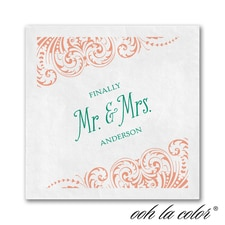 New Angle - Ooh La Color White Beverage Napkin