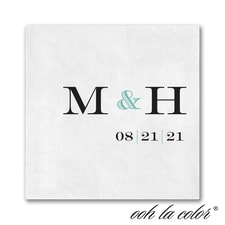 Great Lineup - Ooh La Color White Beverage Napkin