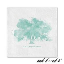 Leafy Lace - Ooh La Color White Beverage Napkin
