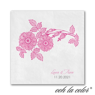 Vintage Daisy - Ooh La Color White Beverage Napkin