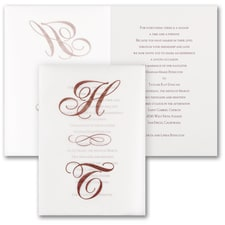 Filigree Letters - Invitation