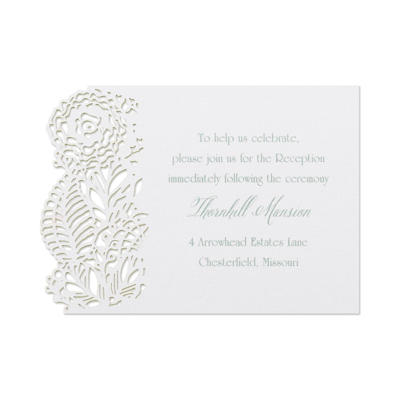 Floral Cut - Reception Card | invitationsbywedgewood