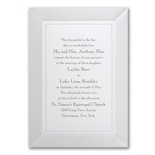 Adorned in Pearl - Invitation - White