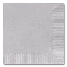 Silver Grey Beverage Napkin