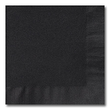 Black Luncheon Napkin