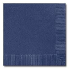 Navy Blue Beverage Napkin