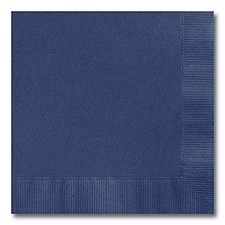 Navy Blue Beverage Napkin