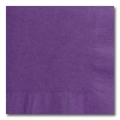 Purple Beverage Napkin